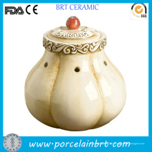 Décoration de pot de rangement en céramique originale à l'ail