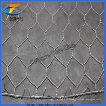 2 * 1 * 1best Qualité Galvanisé Hexagonal Gabion Wire Mesh pour River Constructio