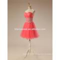 2017 wedding toast short evening dress watermelon red color lace TUTU skirt robe de soiree evening dress