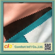 2015 micro poly suede fabric for garments and skirt