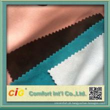 tecido de camurça de micro poli 2015 para vestuários e saia