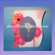 2016 marco cerámico vendedor caliente con la pintura hermosa de la flor