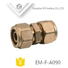 EM-F-A090 Conexión de tubo de unión de conector de compresión de latón