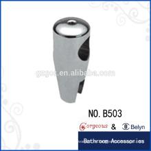 Conector de vidrio con abrazadera de suspensión de latón