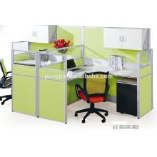 Light green high screen workstation