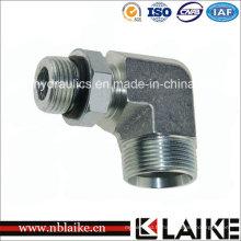 Connecteur / adaptateur hydraulique métrique de coude de 90 degrés