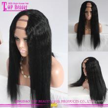 Best selling products wholesale price brazilian human hair u part wig yaki for black women