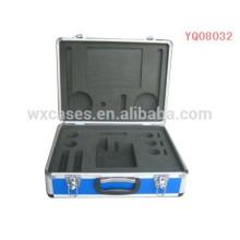instrumento de aluminio fuerte y portátil estuche de transporte con inserto fabricante de encargo de la espuma