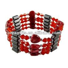 """Braceletes e colar vermelhos magnéticos do envoltório do coração 36 """""""