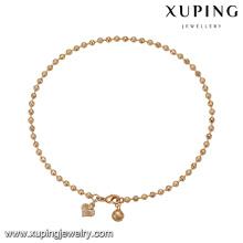 74771 Xuping joyas de imitación trabajo de casa popular pulsera de perlas de oro de China al por mayor