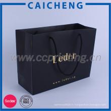 Gaufrage et sac en papier imprimé de haute qualité de papier d'or de logo