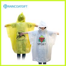 Рекламировать изготовленный на заказ Логос напечатанный PE дождь пончо Сизод-172