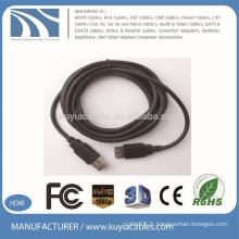 Kuyia Brand prix d'usine noir usb 2.0 3.0 aux extension cable 3m 5m 10m