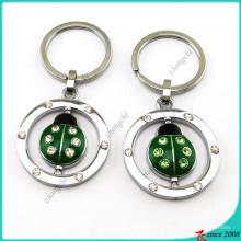 Émail animaux coccinelle charmes en métal porte-clés en gros (kr16041913)