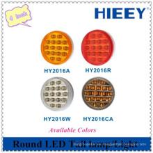 4 pulgadas redondo LED indicador de la lámpara de cola / cola / stop SMD luz para el coche de alta resistencia