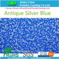 Antique Silver Blue Powder Coating Paint