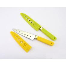 Facas de serviço público de aço inoxidável do punho plástico, facas do Sashimi, facas Paring com 6 furos e bainha
