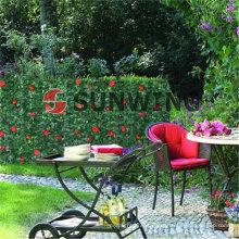 Cerca artificial que cubre la decoración plástica del jardín del seto sintético También aceptamos el OEM, la entrega oportuna y la garantía de calidad.