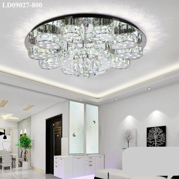 jualan chandelier chrome crystal light dengan remote