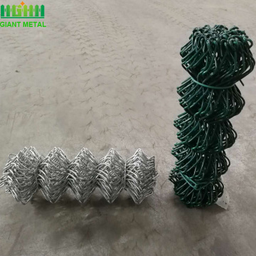 PVC+coated+and+galvanized+chain+link+fence