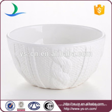 China white ceramic salad bowl