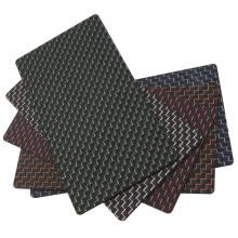 Feuille de fibre de carbone tissée largement appliquée
