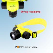 Impermeável Ipx8 150lm 3W CREE XP-R2 R2 Mergulho LED farol (POPPAS-FT50)