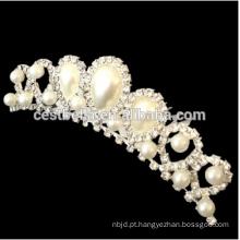 Elegant Sparkling Crystal Bridal Wedding Crown Tiaras decorativas com pente de cabelo