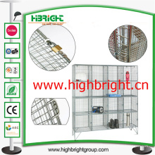 Armarios de almacenamiento de malla de alambre de acero de 16 puertas