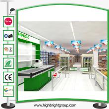 Stahlgeschäft-Supermarkt-Regal