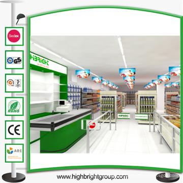 Prateleira de supermercados de mercearia de aço