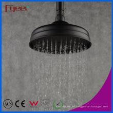 """Fyeer European Style - Cabezal de ducha redondo, lluvia, negro, 8 """""""