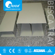 Separate 2 Compartment Cable Trunking System For Cables Laying
