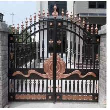Projeto moderno popular do portão do ferro forjado do projeto moderno