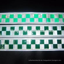 PVC-Grün-weißes reflektierendes Kontrolleur-Band für Sicherheit