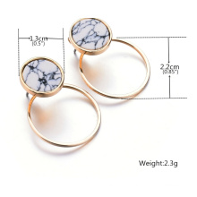 Mode Simple géométriques en marbre Turquoise boucles d'oreilles