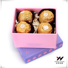 Latest design gift paper box with your own logo for chocolate box