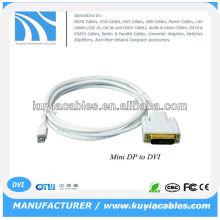 6FT Mini Display Port DP à DVI-D 24 + 1 Fil à double liaison