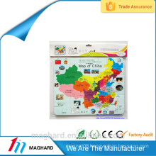 China Wholesale Custom fashion magnetic country map puzzle