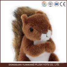 Brinquedo de pelúcia Animal de esquilo recheado personalizado