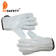 Cow Split Leather Driving Gloves with Without Lining