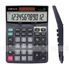 Calculatrice de bureau à 12 chiffres à double alimentation avec fonction fiscale (CA1172T)