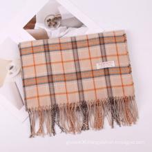 2021 Wholesale Winter Couple Style Plaid Cashmere Scarves Fashion Casual Women Warm Wraps Shawl Scarf