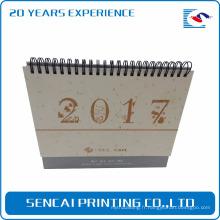 Nouveau calendrier de style de boîte de papier de modèle fait sur commande Calendrier de bureau mensuel de promotion
