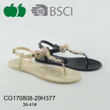Mulheres populares Pvc Summer Flat Sandals