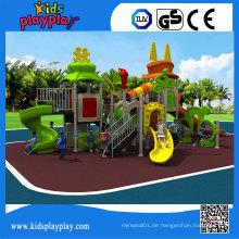 Kidsplayplay-Handelskinder schieben Ausrüstung Plastikspielplatz im Freien
