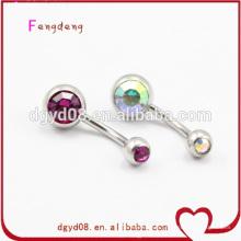 Mode cristal nombril ventre anneau piercing bijoux