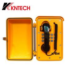 Black Curl Cable Resistente à temperatura elevada Telefone industrial Telefone à prova de poeira Telefone Wall-Mount Phone Knsp-01t2j