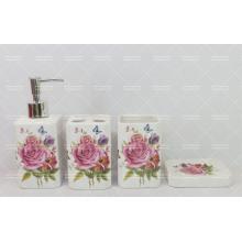 Dekoratives Badezimmer der Blume eingestellt auf Förderung
