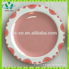 China Housewares Novo Design Pintados à Mão Atacado Placa de Fruta Cerâmica